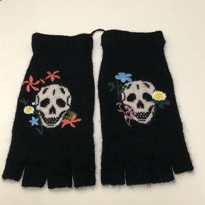 Skull Cashmere Hattie Floral Fingerless Gloves